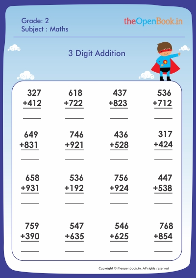 3 Digit Addition