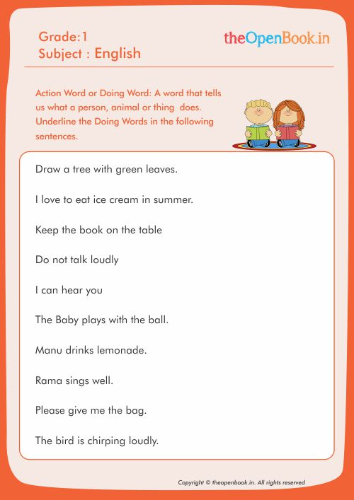 Worksheet Details Home Printable Worksheets Details Action Word