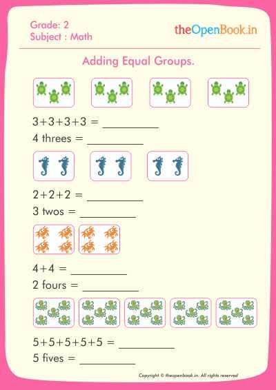 Multiplication Worksheets : equal groups multiplication worksheets ...