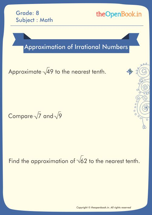 Approximation of Irrational Numbers