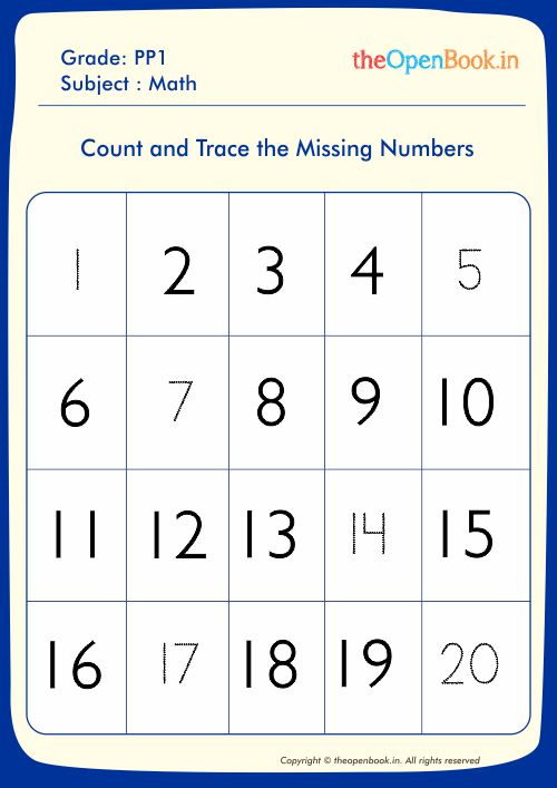 Count and Trace the Missing Numbers