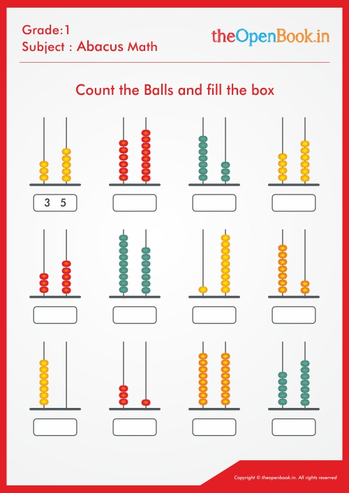 ABACUS DETAILS Home / Abacus Details / Count the Balls and fill the box 01  Download Back to Listing Count the Balls and fill the box 01 Posted On : 20  Apr 2019 Description : Count the Balls and fill the box 06 Tags : Grade 3,  Printable Worksheet, CBSE ...