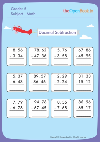 Decimal Subtraction