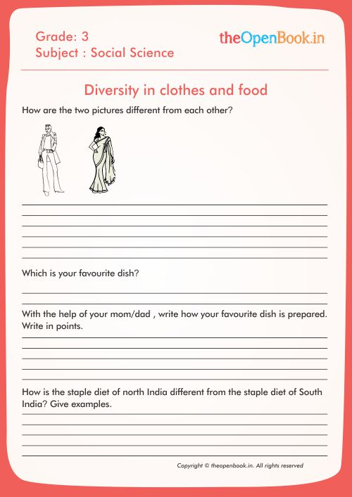 Diversity in clothes and food
