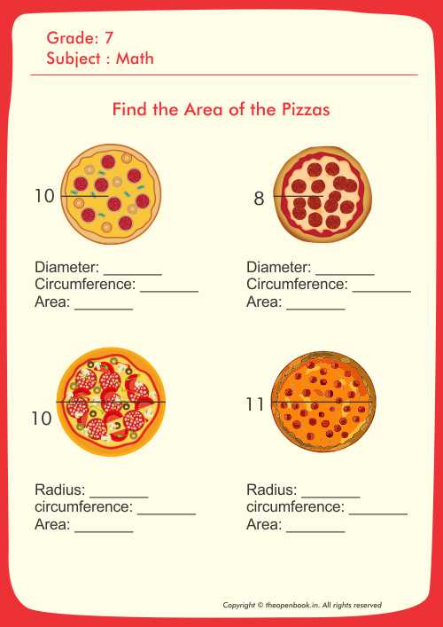 Find the Area of the Pizzas