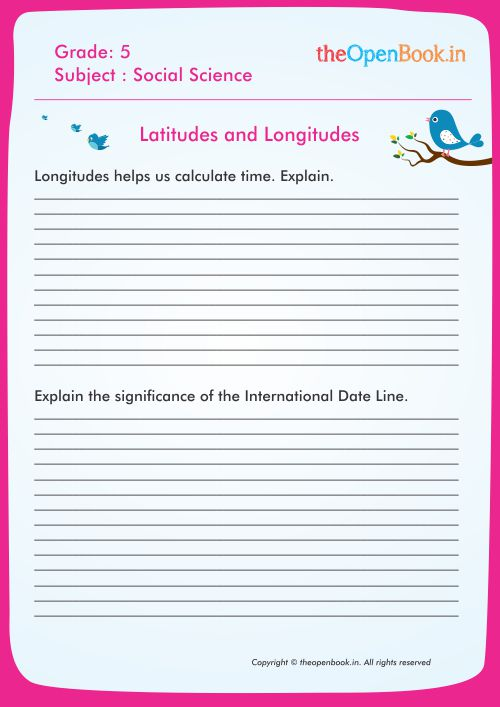 Latitudes and Longitudes