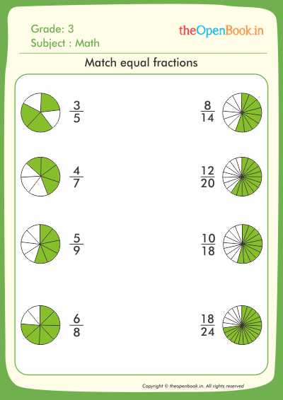 Match equal fractions