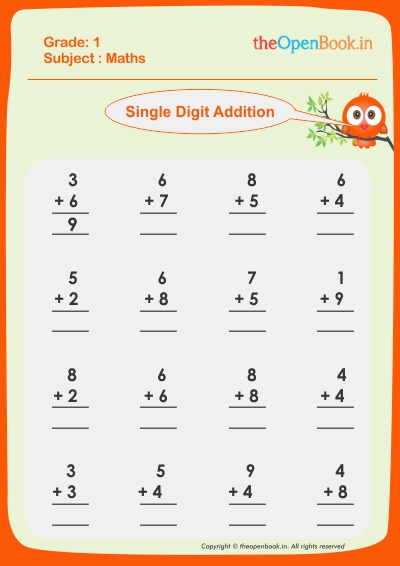 Single Digit Addition