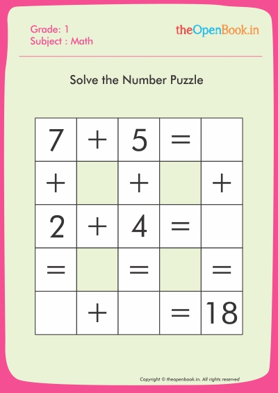 Solve the Number Puzzle