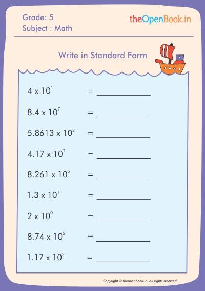 Write in Standard Form