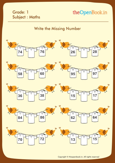 Write the Missing Numbers
