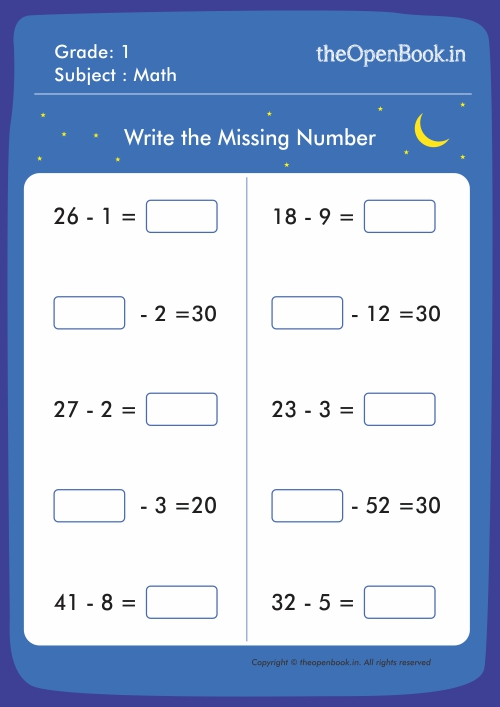 Kids Worksheets to Support School Education