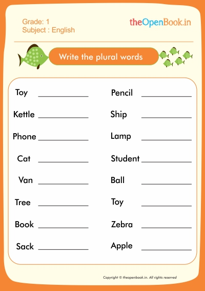 Write the plural words
